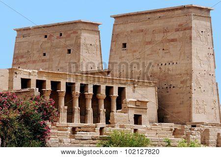 the Temple of Philae near Aswan Egypt.