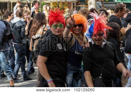 Participants In Technoparade(dream Nation Electronic Music Festival) In Paris, France
