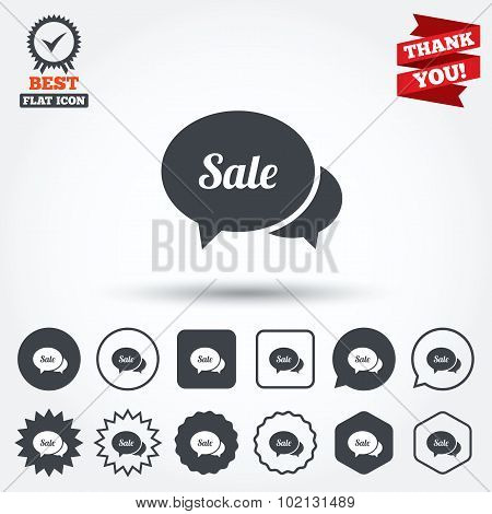 Speech bubble Sale icon. Special offer symbol.