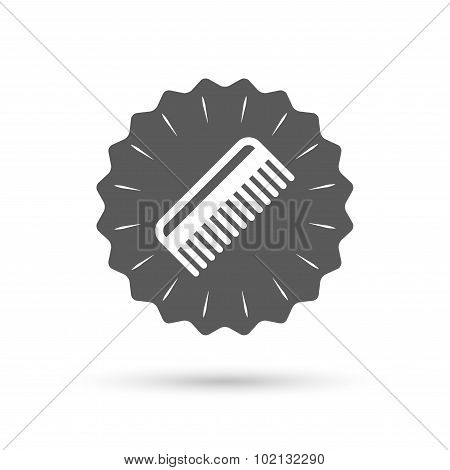 Comb hair sign icon. Barber symbol.