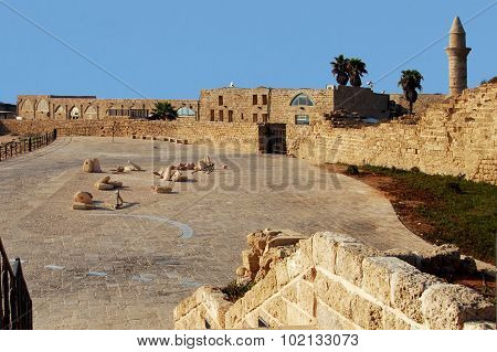 Caesarea is a modern locality in Israel located close to historical Caesarea Maritime half way between the cities of Tel Aviv (45km) and Haifa along the Israeli Mediterranean coastline near the city of Hadera. The modern town of some 4200 people is the on