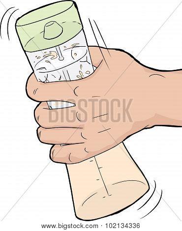 Hand Shaking Salad Dressing