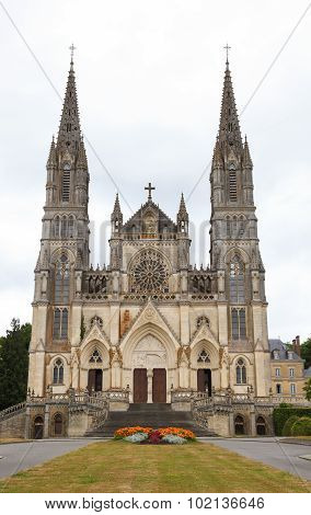 Notre Dame De Montligeon Basilica In La Chapelle Montligeon In The Perche Region Of France
