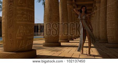 fantasy girl in egypt patio