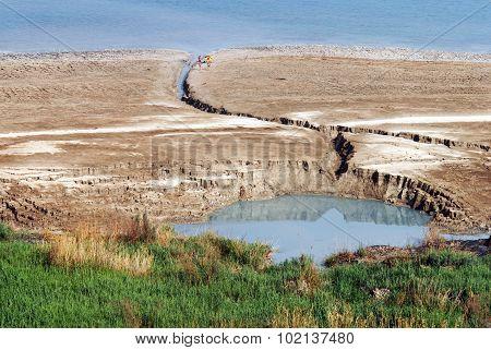 Sinkhole In The Dead Sea Valley Israel