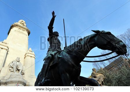 Horse Statue On Plaza De Espana