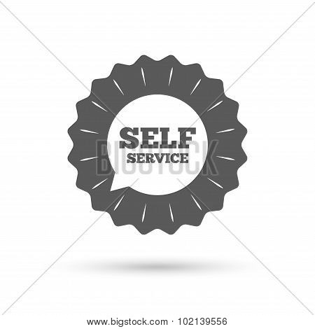Self service sign icon. Maintenance symbol.