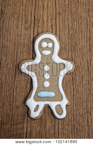 Gingerbread woman biscuit fresh from the oven