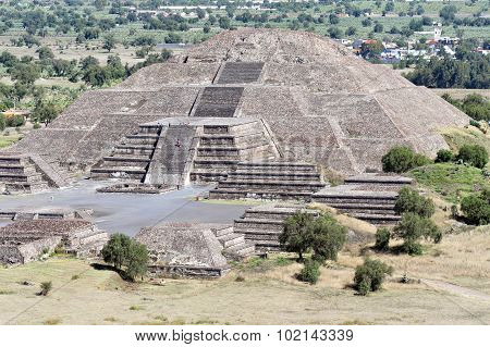 The moon pyramid in the Pyramids of Teotihuacan site Mexico.
