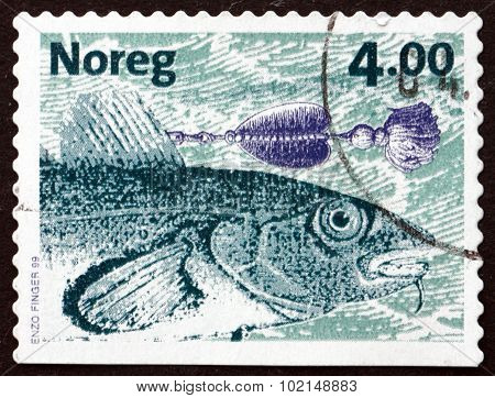 Postage Stamp Norway 1999 Atlantic Cod, Fish