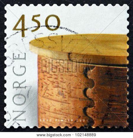 Postage Stamp Norway 2001 Birch Bark Basket