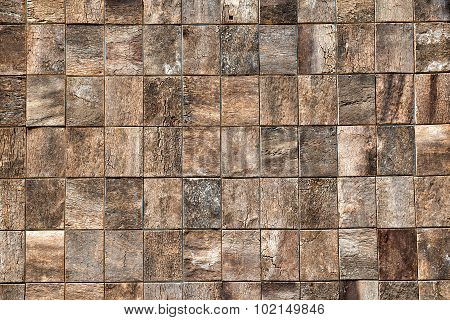 Wooden Bricks Texture With Decorative Woodgrain