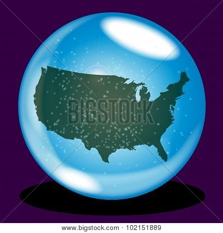 United States Crystal Ball Map