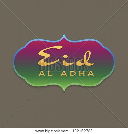 Elegant and colorful unit for 'Eid Al-adha' wishes. Vector design.