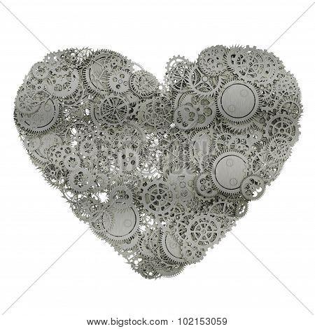 Heart made gears