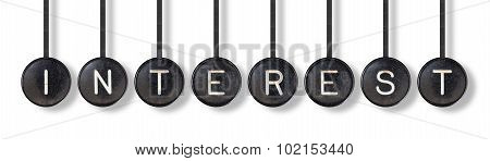 Typewriter Buttons, Isolated - Interest