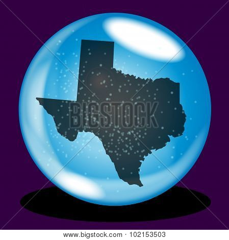 Texas State Crystal Ball Map