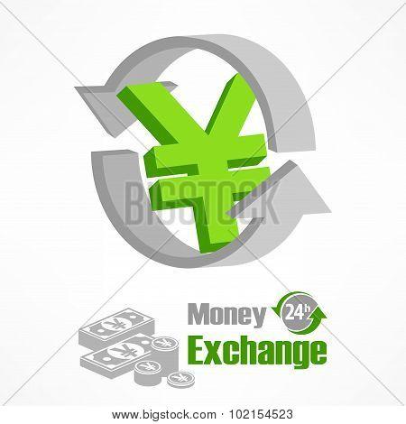 Yen Symbol In Green