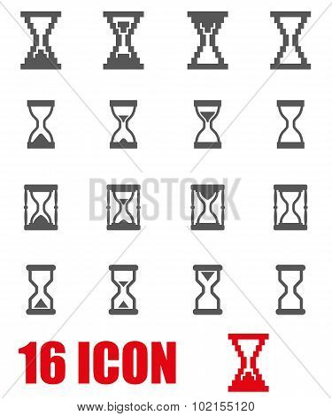 Vector Grey Hourglass Icon Set