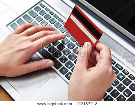 Hand Of A Woman With Credit Card