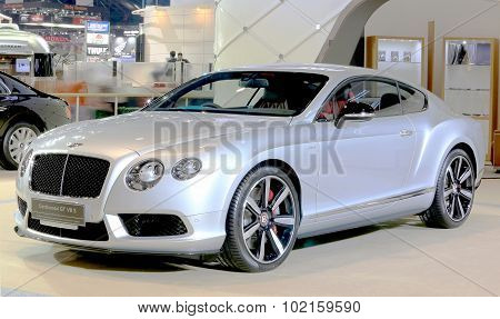 Silver Bentley Series Continental Gt V8 S Luxury  Car