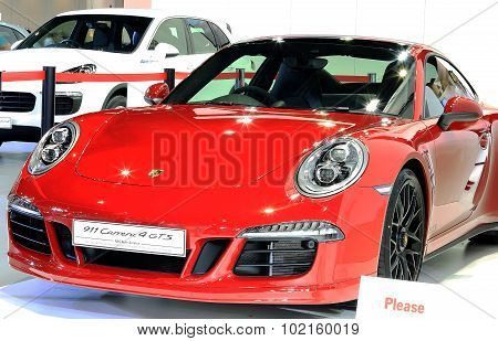 Porsche Red Luxury Sport Car Series 911 Carrera 4Gts