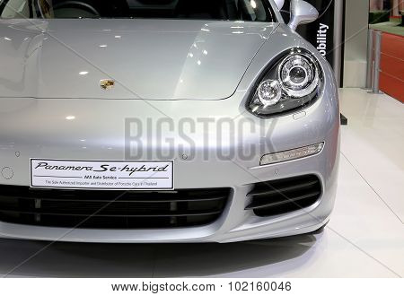 Head Light Of Porsche Series Panamera Se Hybrid Luxury Sport Car