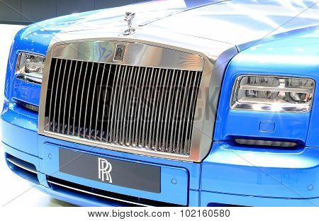 Blue Rolls Royce Luxury Car