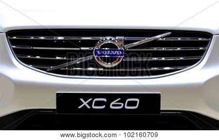 Logo Of Volvo Series Xc60 On Bumper