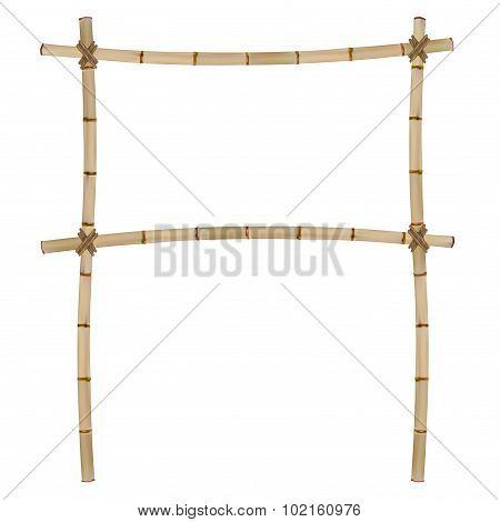 Frame of old bamboo sticks.