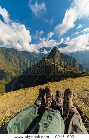 Hiking Boots At Machu Picchu, Peru