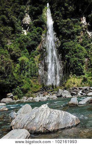 Fantail Falls, West Coast, New Zealand