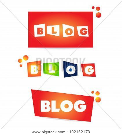 Blog Word Text Icon