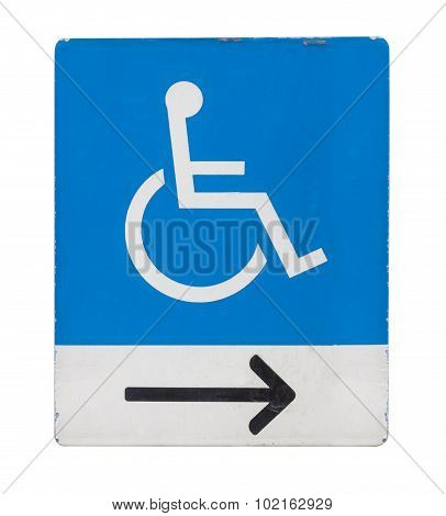 A Blue And White Sign Showing A Space Reserved For Disabled Blue Badge Owners Only