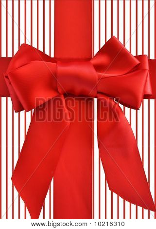 holiday red bow stripe background
