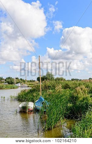 The River Thurne In Norfolk