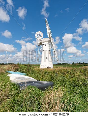 The Windmill At Thurne In Norfolk
