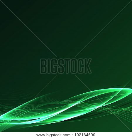 Futuristic Speed Power Fusion Green Wave