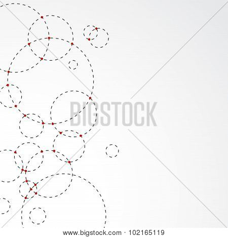 Intersecting Circle Abstract Modern Background