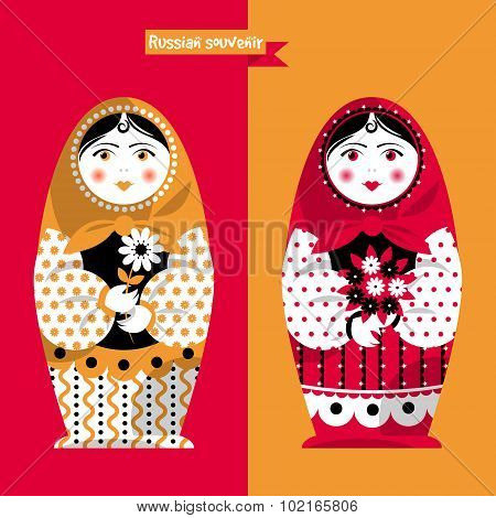 Russian Traditional Handmade Doll. Matryoshka. Russian Souvenir.
