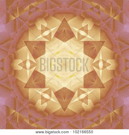 Seamless star pattern golden violet