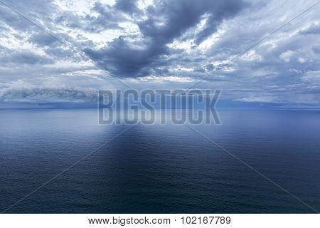 Ocean storm cloudscape over the Pacific Ocean