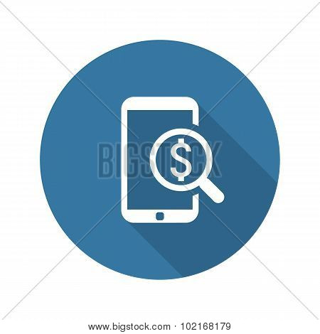 M-Commerce Icon. Business Concept. Flat Design.