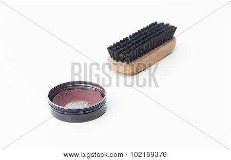 Shoe Polish And Brush Shoe