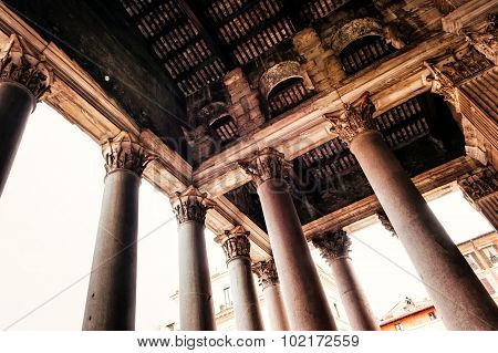 Architecture Of The Pantheon In Rome