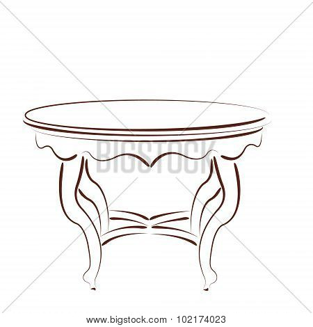 Sketched table.