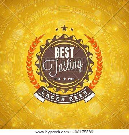 Retro Design Element, Badge, Logotype, Label For Beer, Beer Shop, Pub, Bar. Vector Illustration