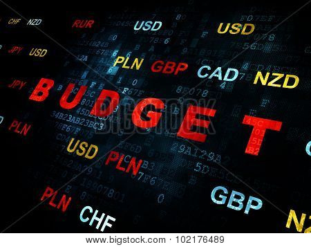 Currency concept: Budget on Digital background