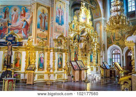 Izhevsk, Russia - September 16, 2015:   Interior of the Saint Michael's Cathedral Izhevsk Udmurtia R