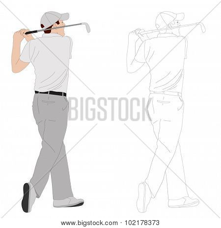 golfer illustration 2